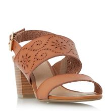 Linea Jarvey laser cut block heel sandals