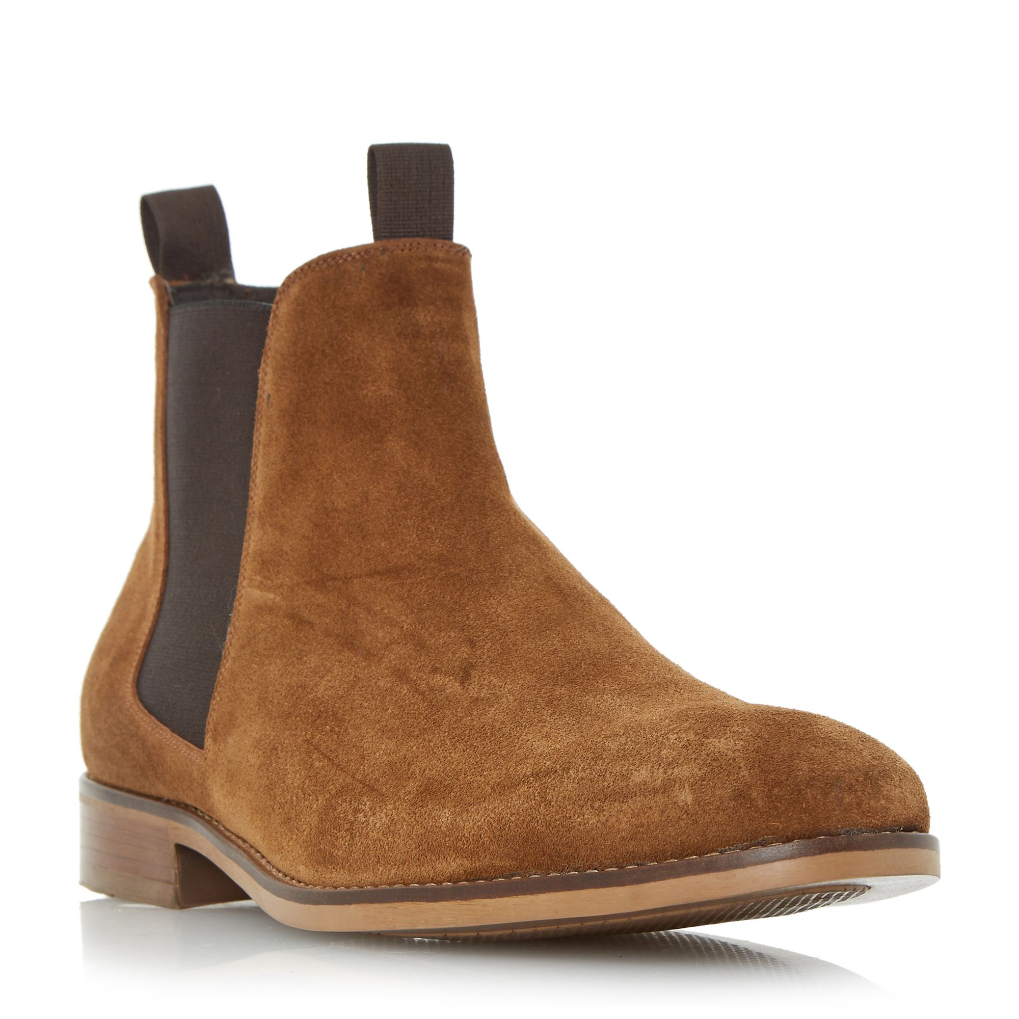Bertie Cole double pull up tab chelsea boots Tan