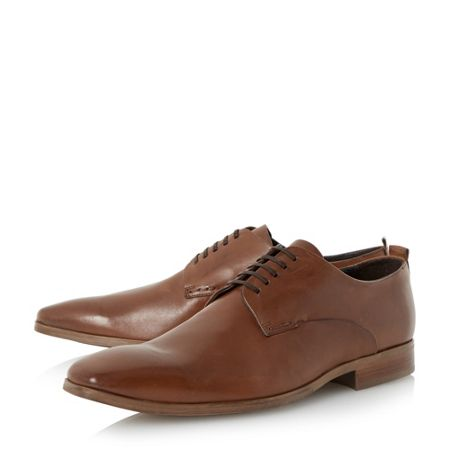 Bertie Ryder almond toe leather derby shoes