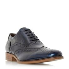 Bertie Rogue patent brogue shoes