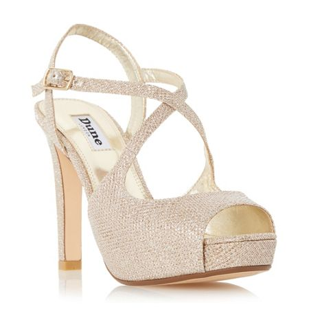 Dune Merry peep toe high heel sandals