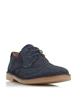 Utah contrast stitch detail brogue shoes