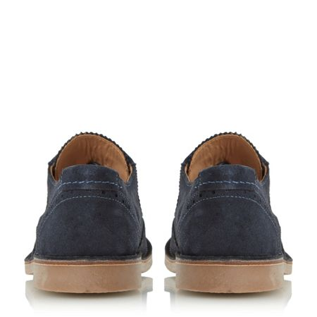 Loake Utah contrast stitch detail brogue shoes