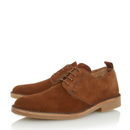 Loake Mojave contrast stitch derby shoes