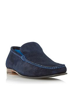 Nicholson contrast stitch suede loafers