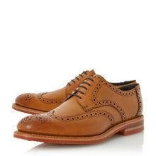 Loake Redgrave leather round toe brogue shoes