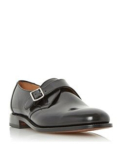 204b single buckle leather monk shoes