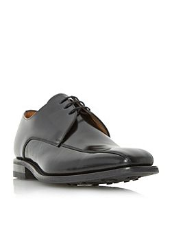 Tramline leather derby shoes