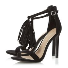Head Over Heels Malloy fringed t-bar high heel sandals