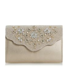 Linea Bolana embellished flap clutch bag