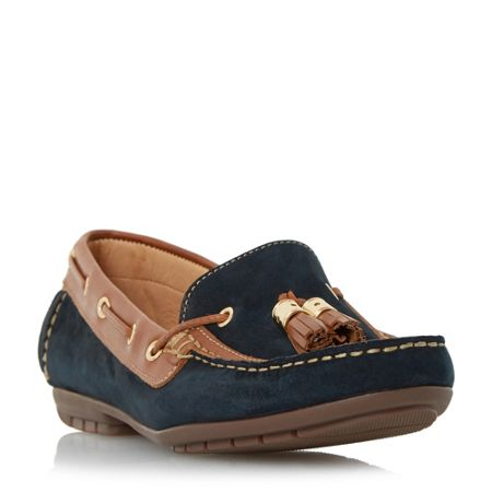 Linea Glacia double tassel trim loafers