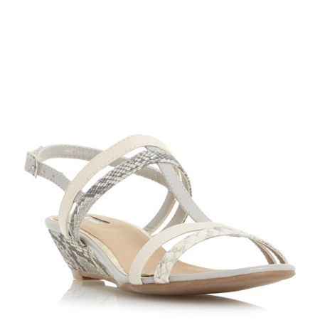 Linea Kora strappy t-bar wedge sandals
