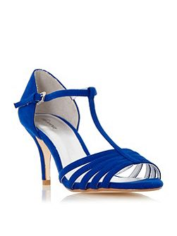 Mayviss t-bar strappy mid heel sandals