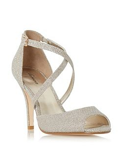Miah peep toe cross over heeled sandals