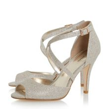 Linea Miah peep toe cross over heeled sandals