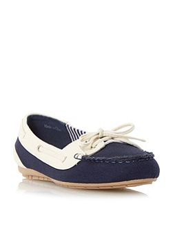 Geline canvas boat shoes