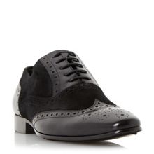 Rower suede and leather oxford brogue