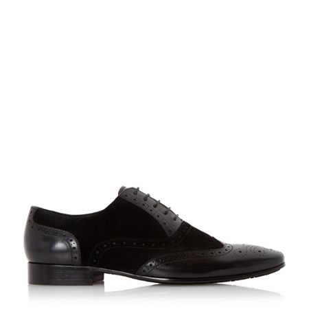 Dune Rower suede and leather oxford brogue