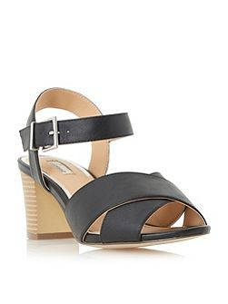 Jessika cross strap mid heel sandals