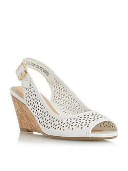 Karolin slingback laser cut wedges