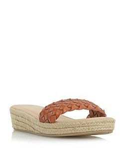 Kove woven strap mule wedge sandals