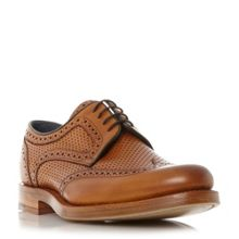 Barker Dowd Tweed Panel Leather Derby Shoes