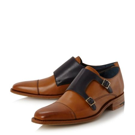 Barker Hillman contrast monk shoes