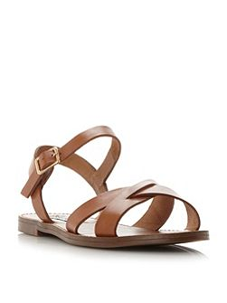 Dublin cross strap flat sandals