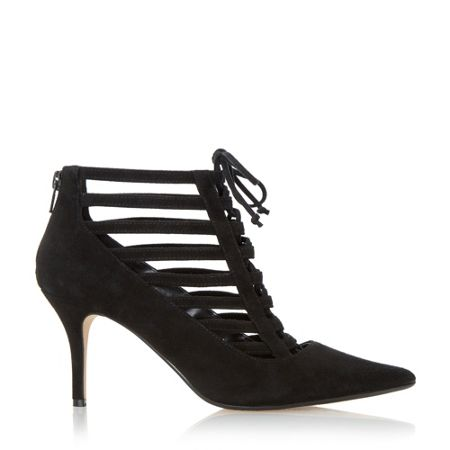 Dune Amma strappy ghillie lace court shoes