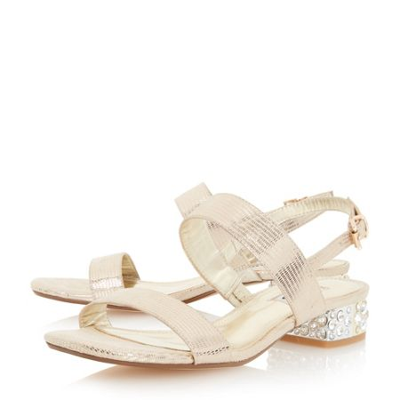 Dune Ninah jewelled block heel sandal