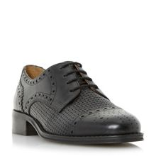 Finchly weave embossed lace up shoes