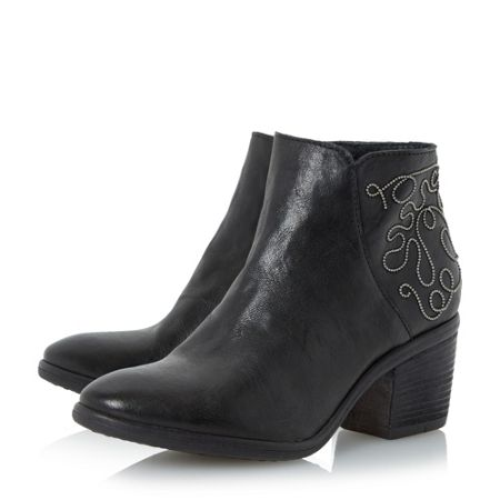 Dune Patty stacked heel casual boots