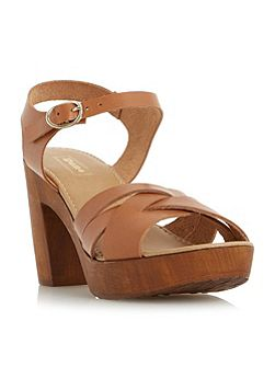 Jani criss cross wooden block sandals