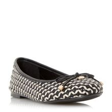 Dune Hobbi woven leather ballerina pumps