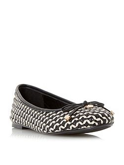 Hobbi woven leather ballerina pumps