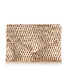 Elenor large beaded clutch bag