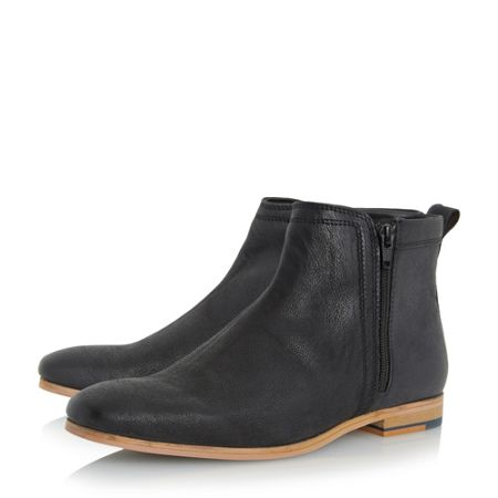 Linea Medal side zip detail leather boots
