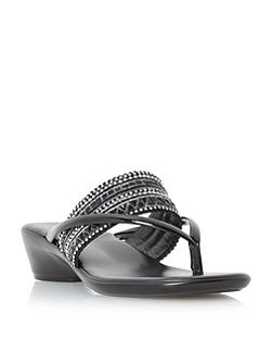 Kelise toe post beaded sandals