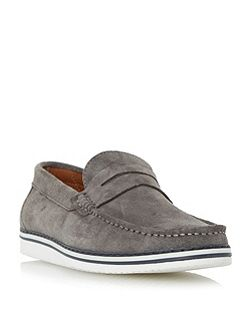 Brightling Wedge Sole Suede Penny Loafer