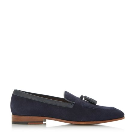 Dune Rutland embossed suede tassel shoes