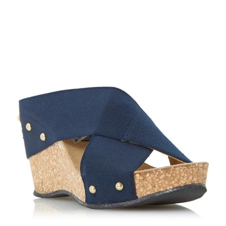 Linea Gingerbread fabric wedge sandals