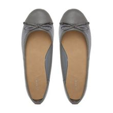 Hailey snake embossed ballerina shoes