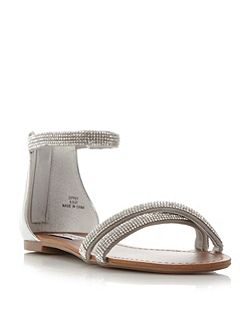 Zippy dimante strap sandals