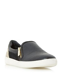 Edgar mixed material slip on shoes
