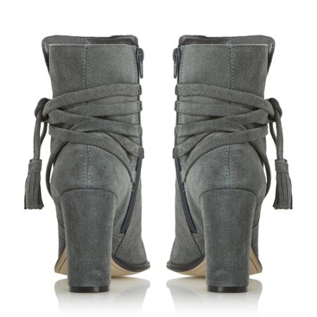 Dune Onyx strappy  stacked heels