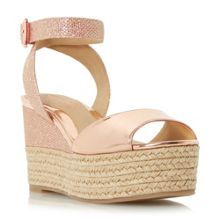Head Over Heels Kalmia two part espadrille wedge sandals