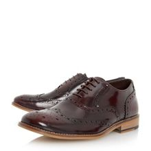 Recent high shine leather brogue shoes