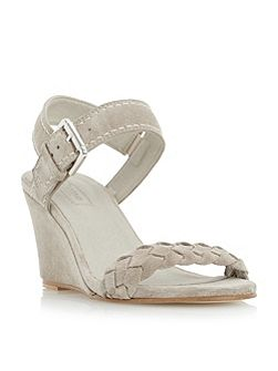 Keaton plaited strap wedge sandals