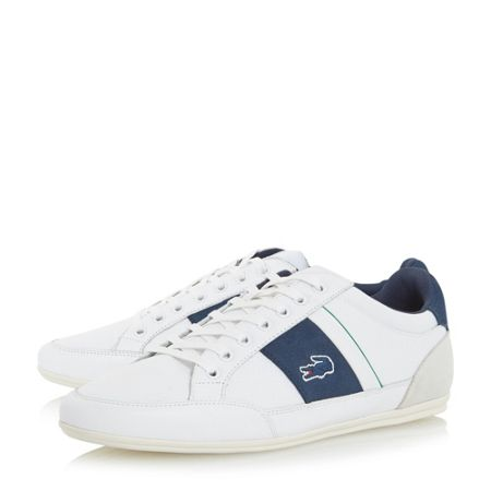 Lacoste Chaymon strip detail lace up trainer