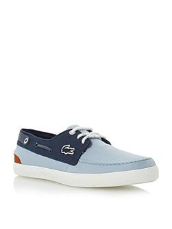 Sumac two toned boat shoe